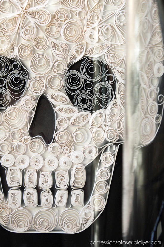 Quilled Paper Skull