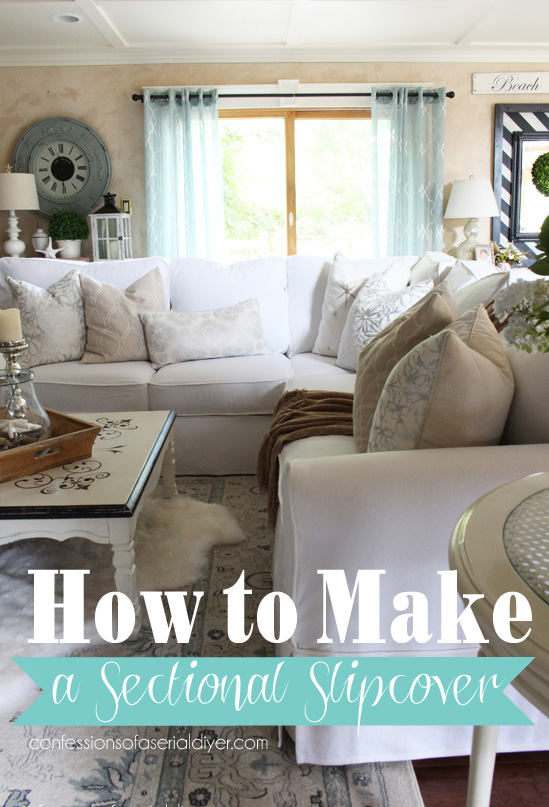 How to make a sectional slipcover step-by-step with Confessions of a : sectional sofa slip cover - Sectionals, Sofas & Couches