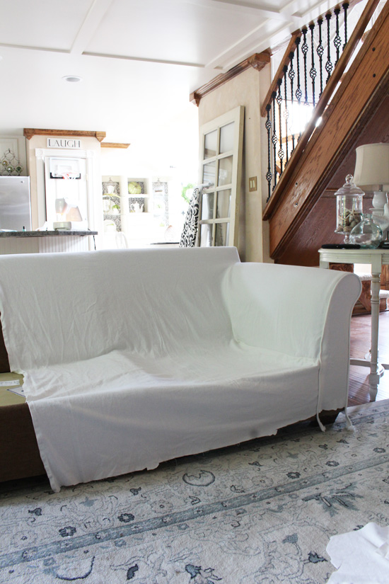 How to make a sectional slipcover step-by-step with Confessions of a : couch cover sectional - Sectionals, Sofas & Couches