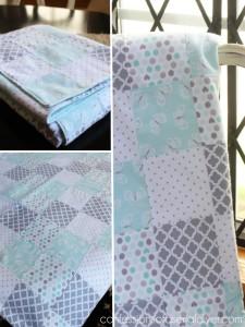 Super easy baby quilt!