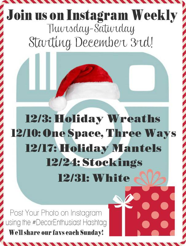 Instagrm weekly Christmas challenges