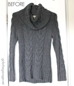 Upcycled sweater by Girl in the Garage