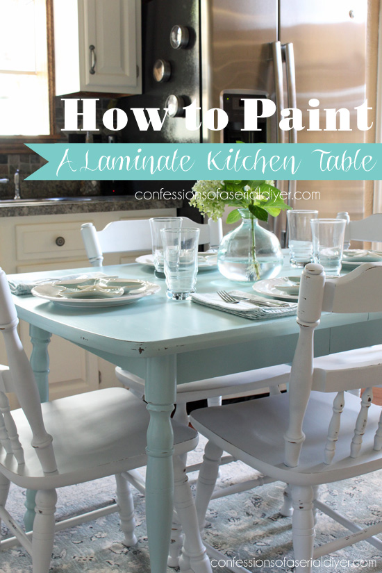 how to paint a laminate kitchen table from confessions of a serial do it - Best Paint For Dining Room Table