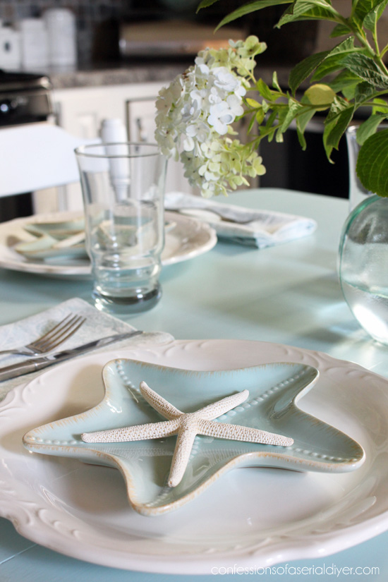 How to Paint a Laminate Kitchen Table | Confessions of a Serial Do ...