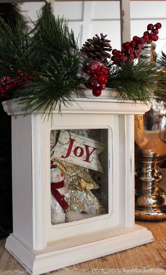 Turn a thrift store clock into pretty Christmas decor! Confessions of a Serial Do-it-Yourselfer