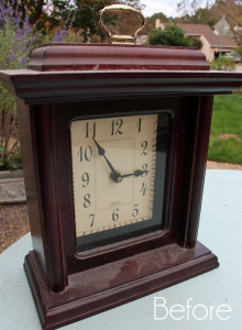 Thrift Store Clock to Holiday Décor