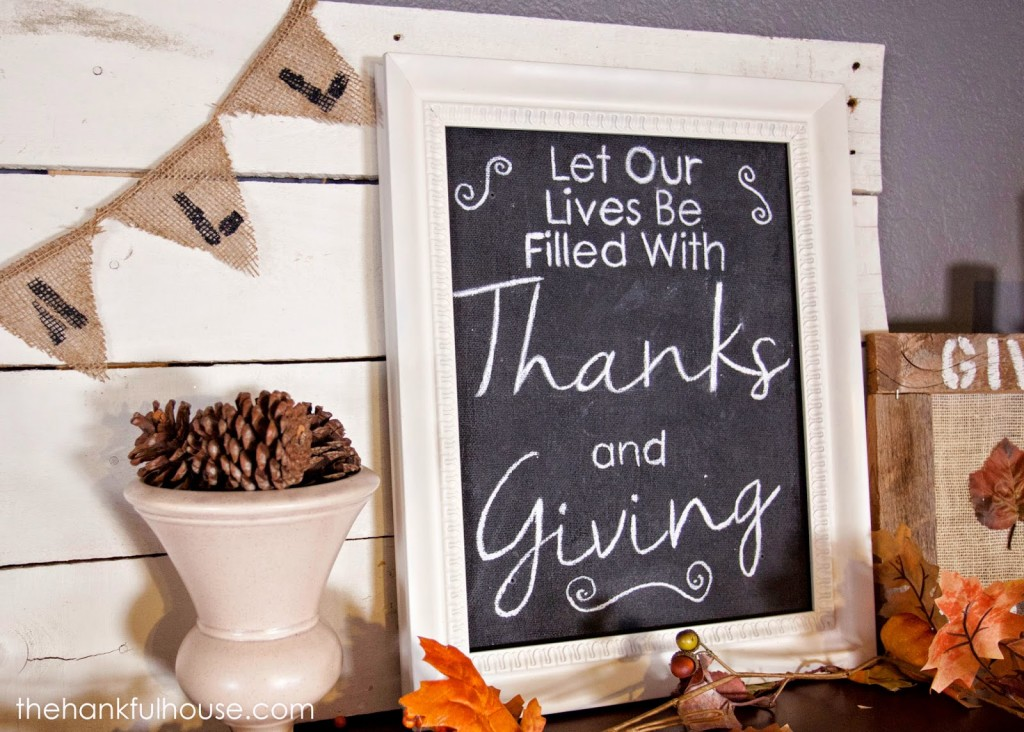 Perfect Thanksgiving sign to welcome guests!