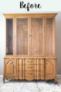 French Provinical China Cabinet Makeover by Blesser House