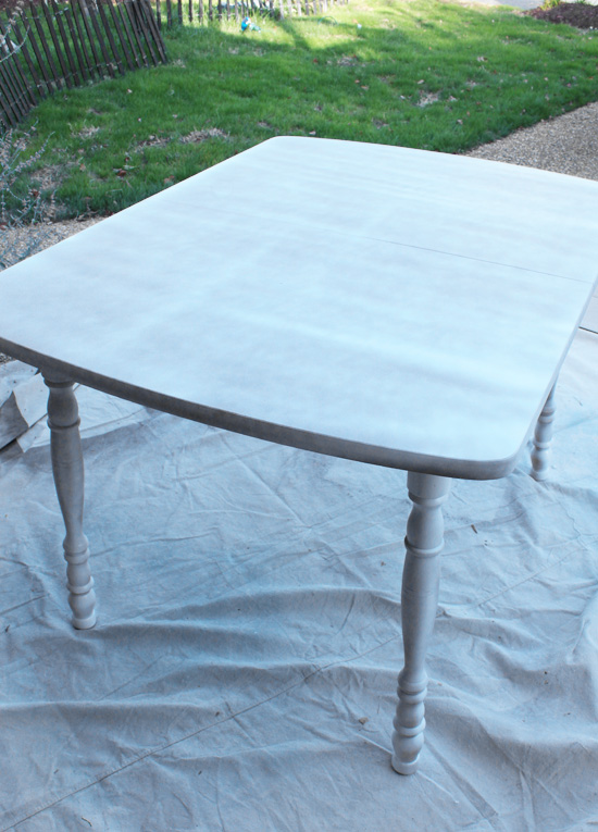 how to paint a laminate kitchen table from confessions of a serial doit