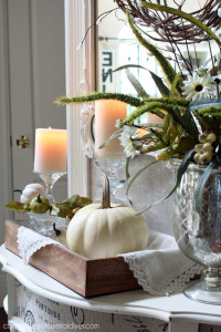 Neutral Fall Vignette and Thrift Store Mirror Makoever