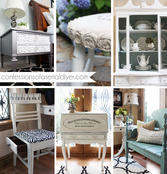 Themed Furniture Thursday Makeovers from Confessions of a Serial Do-it-Yourselfer