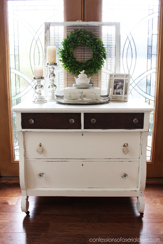 Empire dresser makeover from H-E double hockey sticks!