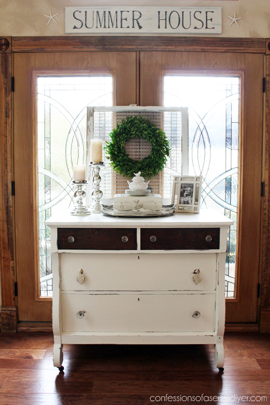 Thrift Store Empire Dresser Makeover from Confessions of a Serial Do-it-Yourselfer
