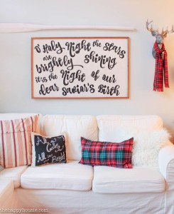 DIY Christmas Carol / Song Lyrics Sign by Krista from The Happy Housie