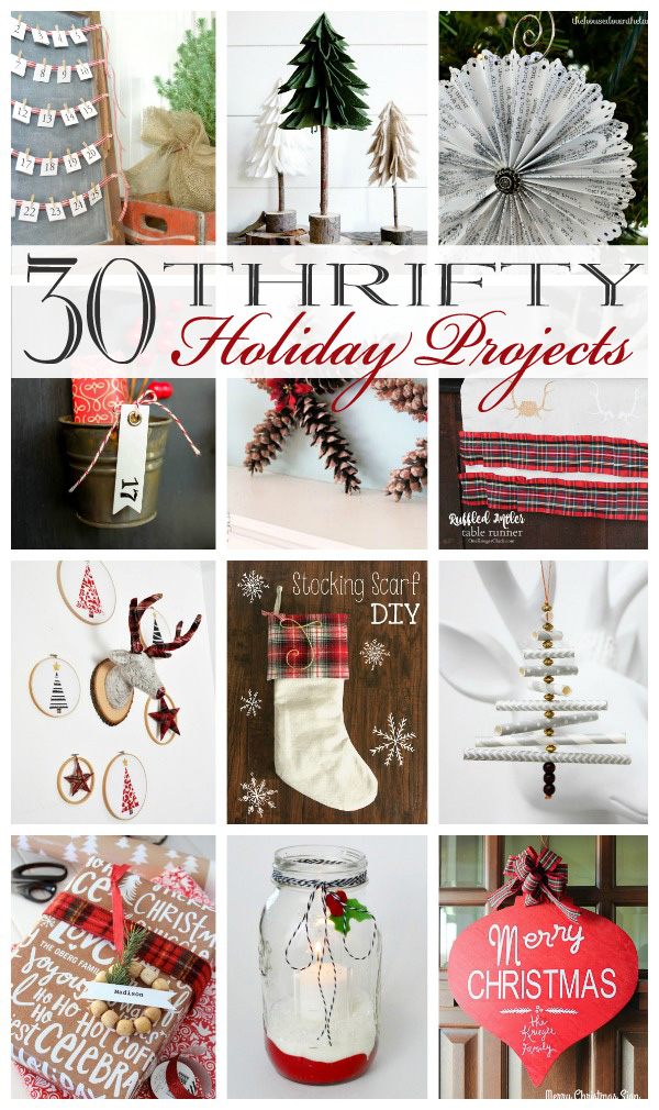 30 Thrifty Holiday Projects poster.