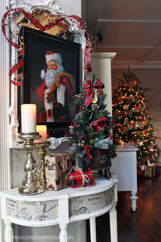 Christmas entry table a décor challenge confessions of
