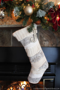 Stockings made from sweaters from Confessions of a Serial Do-it-Yourselfer