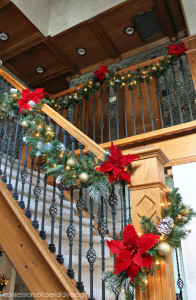My gold shatterproof ornaments make a comeback this year as well as you can see. I used them in a few places. They are a great inexpensive way to decorate for the Holidays.