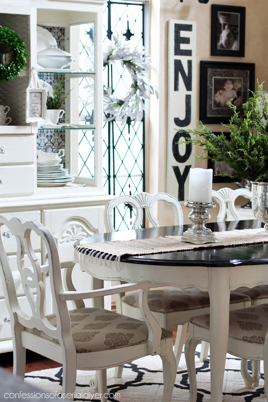 Enjoyable Dining Table Makeover Take One Confessions Of A Serial Do Interior Design Ideas Truasarkarijobsexamcom