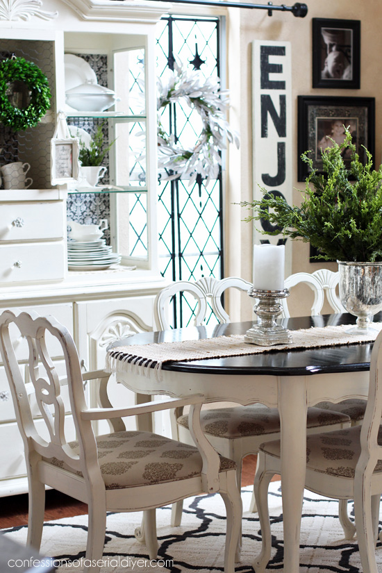 dining table makeover, take one | confessions of a serial do-it
