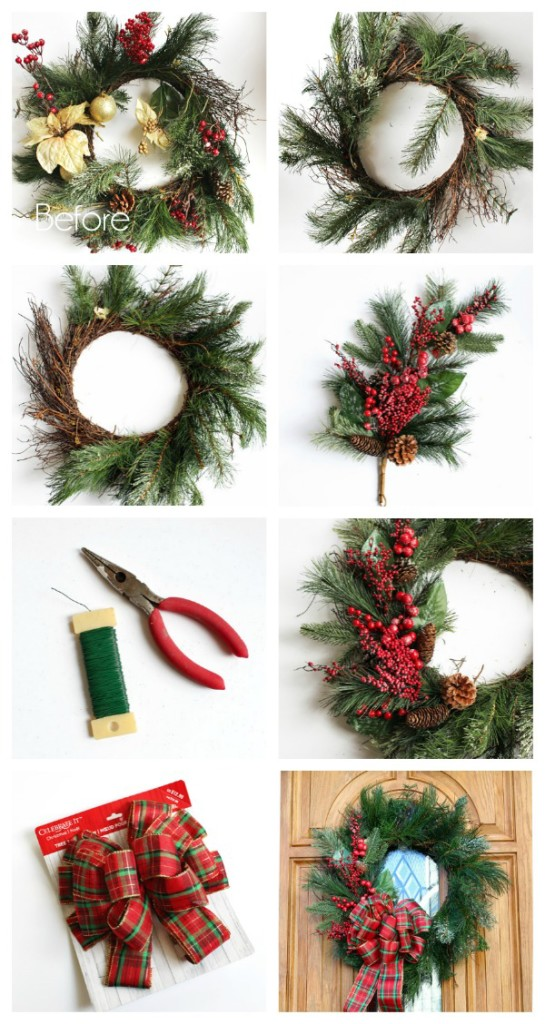 How to make the easiest Christmas wreath ever!