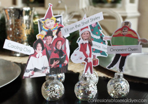 Another fun place card idea from Confessions of a Serial Do-it-Yourselfer