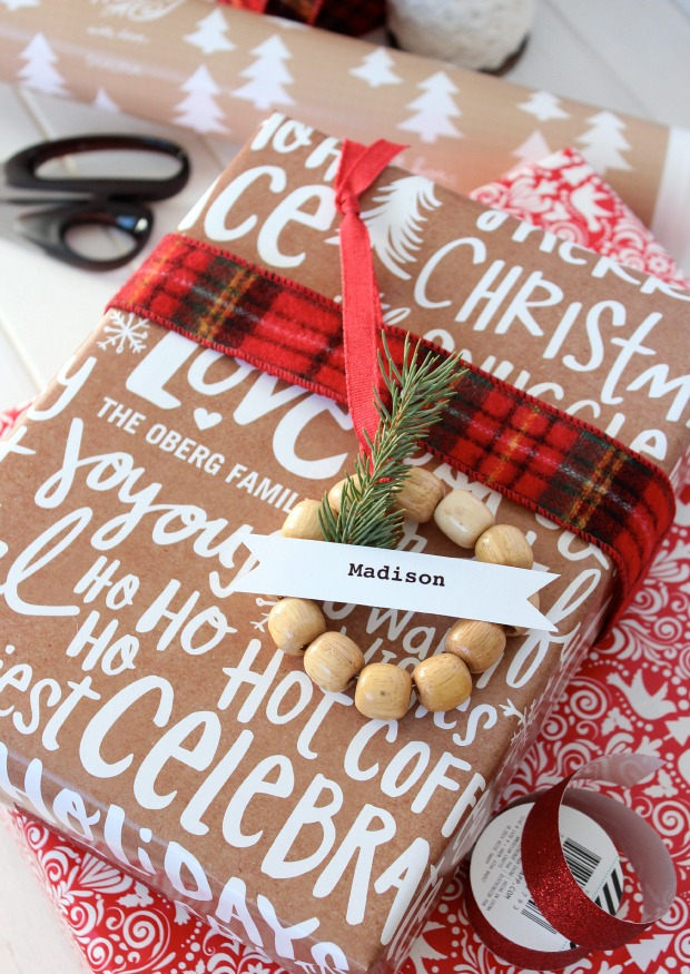 Mini Wreath Gift Tags & More Christmas Wrapping Ideas from Satori Design for Living