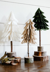 DIY Rustic Felt Christmas Trees from Little House of Four