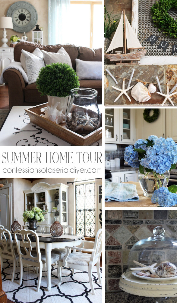Summer Home Tour from Confessions of a Serial Do-it-Yourselfer