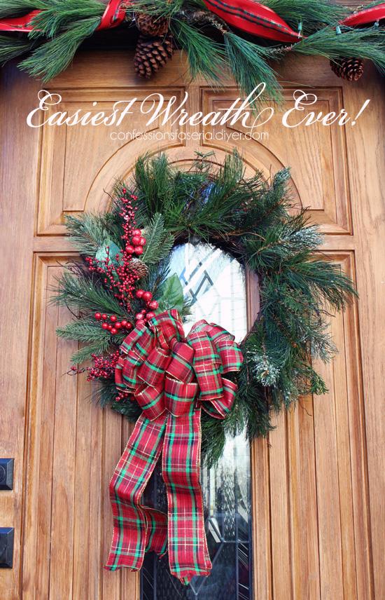 Easiest Christmas wreath ever!