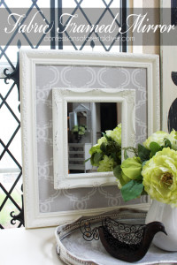 Thrifty Fabric Framed Mirror from Confessions of a Serial Do-it-Yourselfer