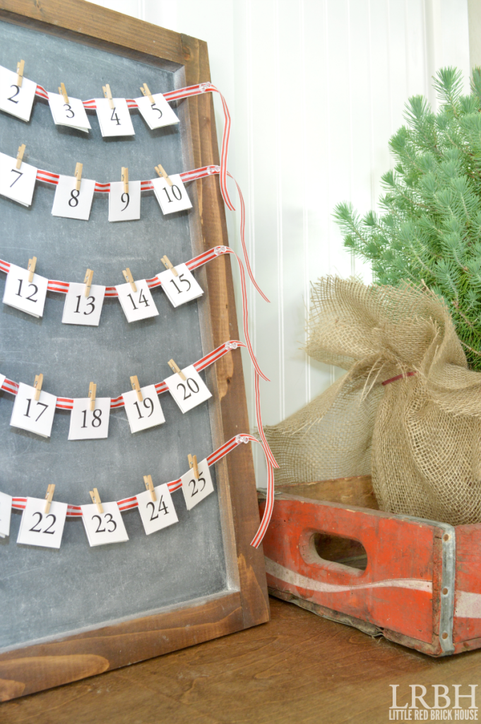 Chalkboard Advent Calendar from Little Red Brick House
