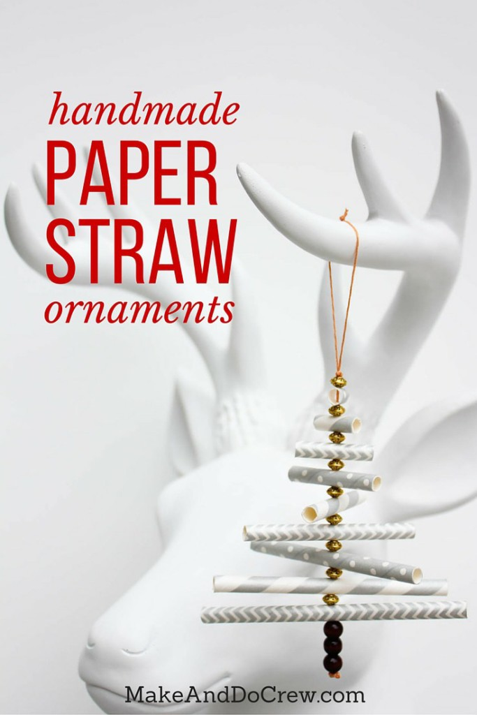 Paper Straw DIY Christmas Ornaments from Make and Do Crew