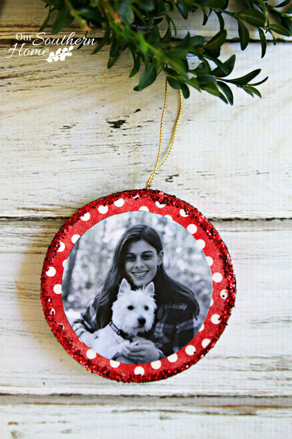 Photo Ornaments from Our Southern Home