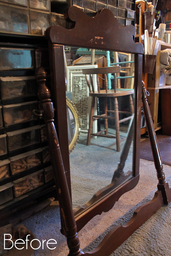 Antique-Dressing-Table-Mirror-Before
