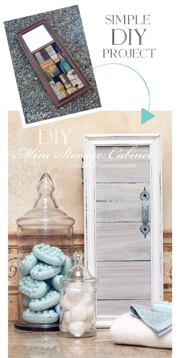 SImple DIY Mini Cabinet from confessionsofaserialdiyer.com