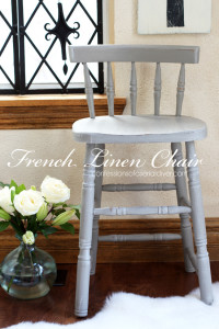 French Linen Chair