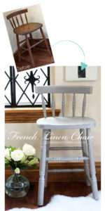 Thrift Store Chair Makeover with Annie Sloan's French Linen from confessionsofaserialdiyer.com