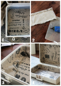 How to line a trunk or suitcase from Confessions of a Serial Do-it-Yourselfer