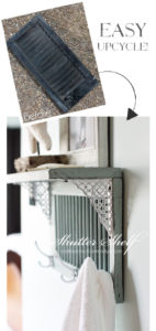 Shutter turned super cute shelf from confessionsofaserialdiyer.com