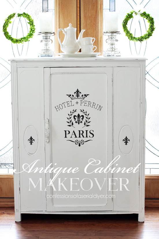 Antique Cabinet Makeover An Alternative To Replacing The Glass