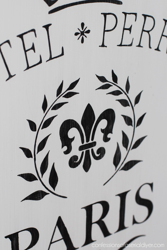 Combine more than one stencil to get look you want. Love this fleur de lis stencil!