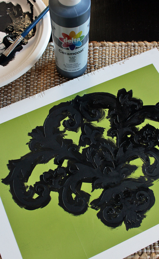 A stencil is a great way to add personality to a tray.