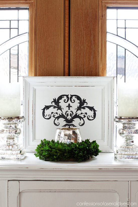 A super easy way to make a tray is from an old frame. See how here! Confessions of a Serial Do-it-Yourselfer