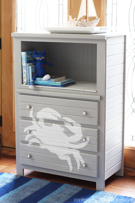 Dresser perfect for a boys room from Confessions of a Serial Do-it-Yourselfer
