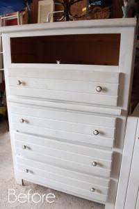 $5 Yard Sale Dresser Redo