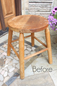 Drop Cloth Rosette Stool {Best of the Archives}