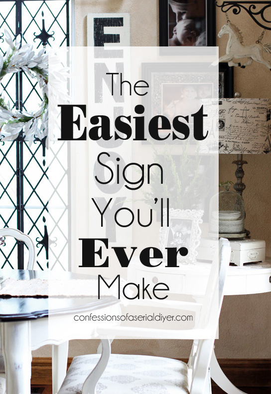 Seriously EASY method for making signs.