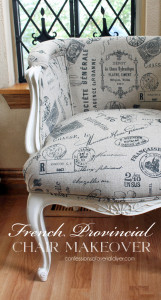 French Provincial Chair Makeover {Best of the Archives!}