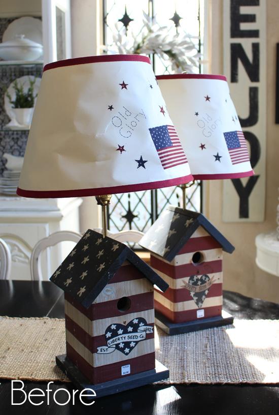 Patriotic Lamps Before